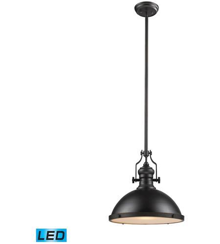 elk 661381led chadwick led 17 inch oiled bronze pendant ceiling light
