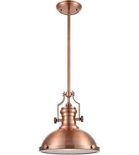 ELK 66144-1 Chadwick 1 Light 13 inch Antique Copper Pendant Ceiling Light in Incandescent photo