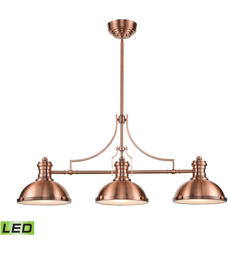 ELK 66145-3-LED Chadwick LED 47 inch Antique Copper Billiard Light Ceiling Light photo