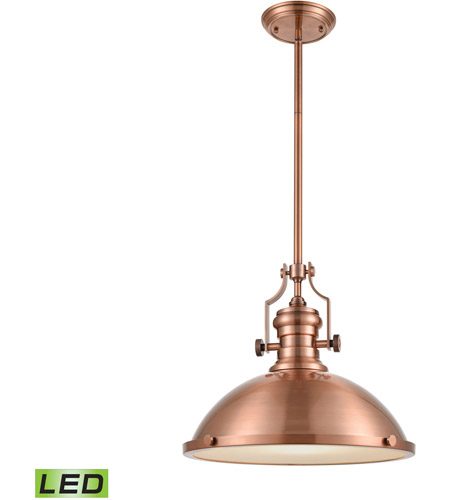 ELK 66148-1-LED Chadwick LED 17 inch Antique Copper Pendant Ceiling Light photo