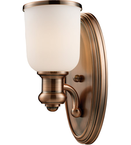 Brooksdale 1 Light 5 Inch Antique Copper Sconce Wall In Incandescent