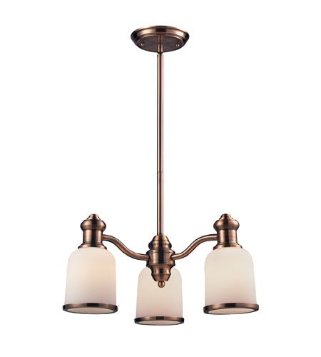 ELK 66182-3 Brooksdale 3 Light 20 inch Antique Copper Chandelier Ceiling  Light in Standard - ELK 66182-3 Brooksdale 3 Light 20 Inch Antique Copper Chandelier