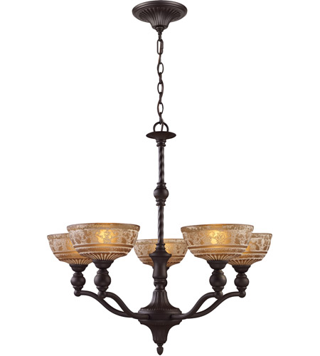 ELK Lighting Norwich 5 Light Chandelier in Oiled Bronze 66197-5 photo