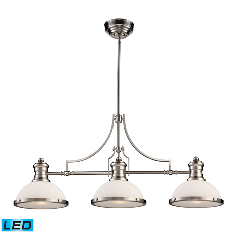 ELK 66225-3-LED Chadwick LED 47 inch Satin Nickel Island Light Ceiling Light photo