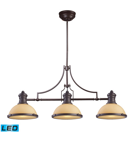 ELK 66235-3-LED Chadwick LED 47 inch Oiled Bronze Island Light Ceiling Light  photo