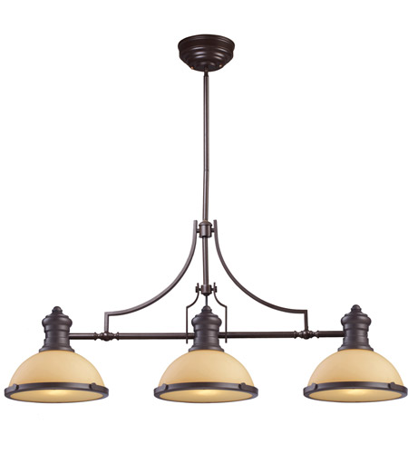 ELK 66235-3 Chadwick 3 Light 47 inch Oiled Bronze Billiard Light Ceiling Light in Incandescent photo