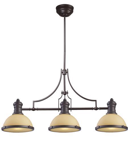 Elk 66235 3 chadwick 3 light 47 inch oiled bronze billiard island ceiling light in standard