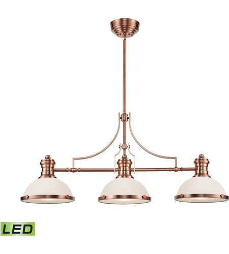 ELK 66245-3-LED Chadwick LED 47 inch Antique Copper Billiard Light Ceiling Light photo