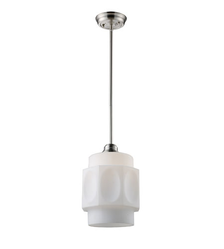 ELK 66290-1 Schoolhouse 1 Light 8 inch Satin Nickel Pendant Ceiling Light