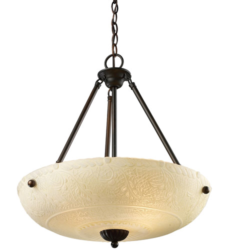 ELK Lighting Restoration 4 Light Pendant in Aged Bronze 66322-4