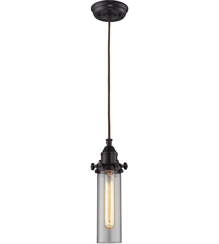 elk fulton 1 light 4 inch oil rubbed bronze pendant ceiling light - Bronze Pendant Light