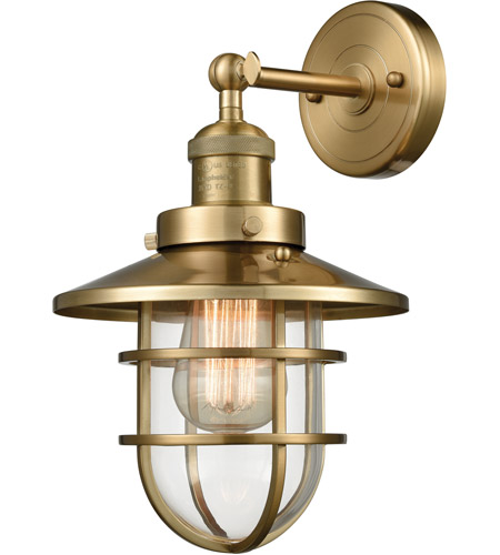 Elk 66386 1 seaport 1 light 8 inch satin brass wall sconce wall light aloadofball Choice Image