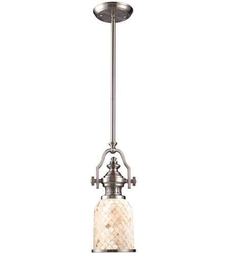 ELK 66422-1 Chadwick 1 Light 6 inch Satin Nickel Pendant Ceiling Light in Incandescent photo