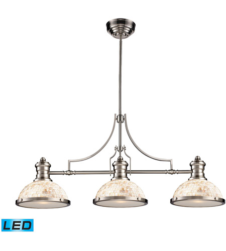ELK Lighting Chadwick 3 Light Billiard/Island in Satin Nickel 66425-3-LED photo
