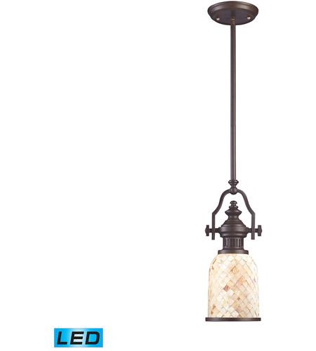 Elk Lighting Amazon: ELK 66432-1-LED Chadwick LED 6 Inch Oiled Bronze Pendant