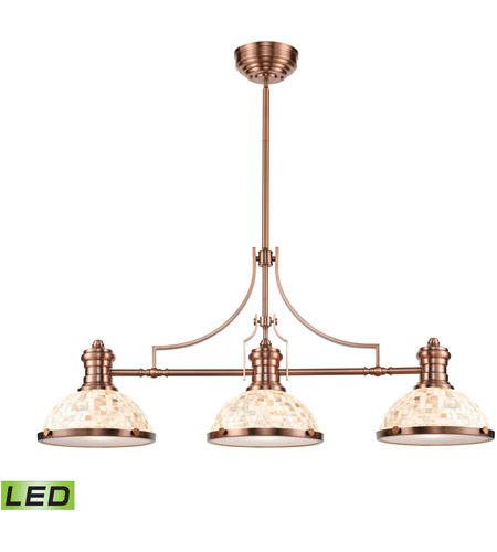 ELK 66445-3-LED Chadwick LED 47 inch Antique Copper Billiard/Island Ceiling Light photo