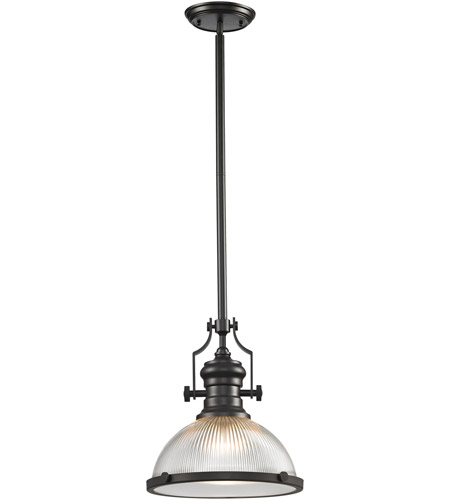 elk chadwick 1 light 13 inch oil rubbed bronze pendant ceiling light - Bronze Pendant Light