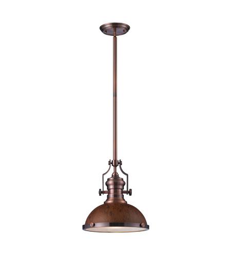 Elk Lighting Chadwick 1 Light Pendant In Antique Copper 66545