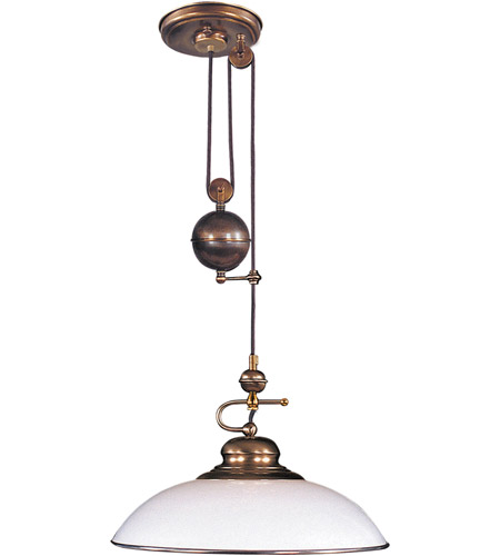 Elk Lighting Clic Pulldown 1 Light Pendant In Antique Br 6662