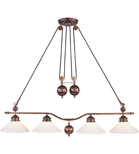 Elk Lighting Clic Pulldown 4 Light Island In Antique Br 6664