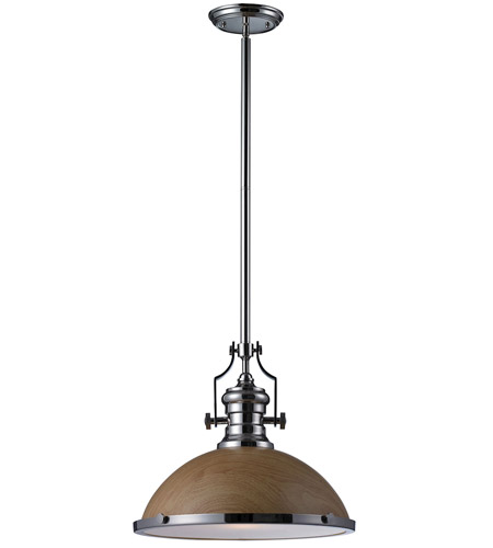 Elk Lighting Chadwick Pendant: ELK Lighting Chadwick 1 Light Pendant In Polished Nickel