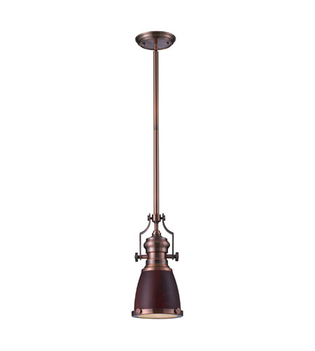 Elk Lighting Chadwick Pendant: ELK Lighting Chadwick 1 Light Pendant In Antique Copper