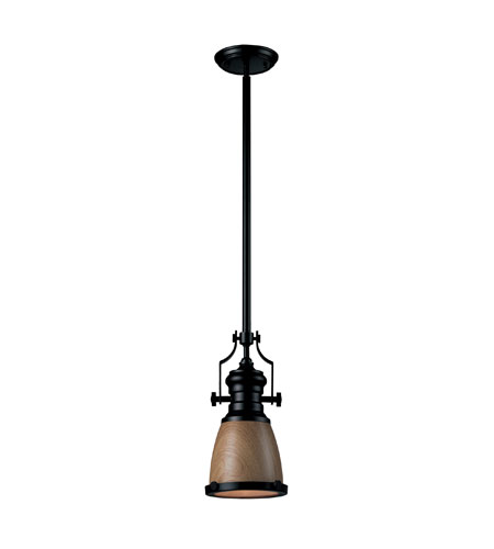 Elk Lighting Chadwick Pendant: ELK 66722-1 Chadwick 1 Light 8 Inch Oiled Bronze Pendant