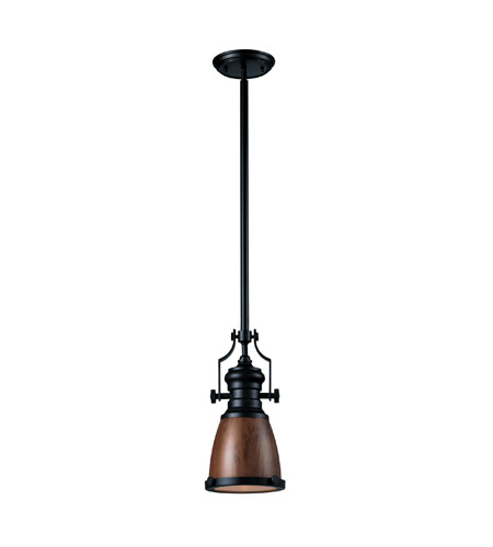 Elk Lighting Chadwick Pendant: ELK Lighting Chadwick 1 Light Pendant In Oiled Bronze 66723-1