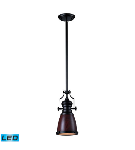 Elk Lighting Chadwick Pendant: ELK Lighting Chadwick 1 Light Pendant In Oiled Bronze