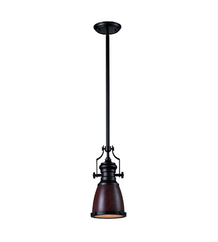 sc 1 st  ELK Lighting & ELK Lighting Chadwick 1 Light Pendant in Oiled Bronze 66724-1