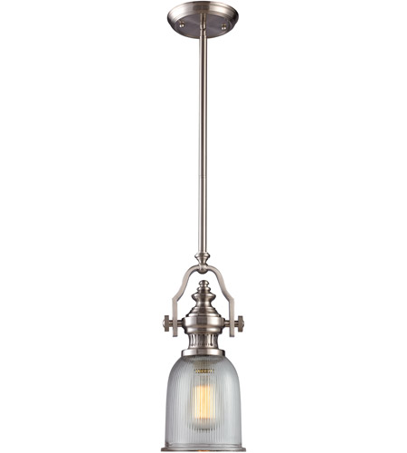 Elk Lighting Chadwick Pendant: ELK Lighting Chadwick 1 Light Pendant In Satin Nickel 66771-1