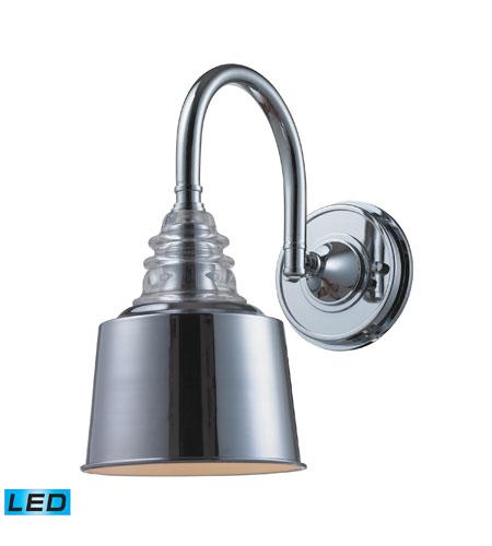 Wall Sconces Polished Chrome : ELK 66803-1-LED Insulator Glass LED 7 inch Polished Chrome Wall Sconce Wall Light