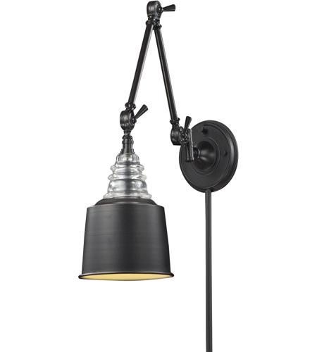 elk lighting swing arm wall sconce. elk 66815-1 insulator glass 34 inch 60 watt oiled bronze swingarm wall light in standard elk lighting swing arm sconce c