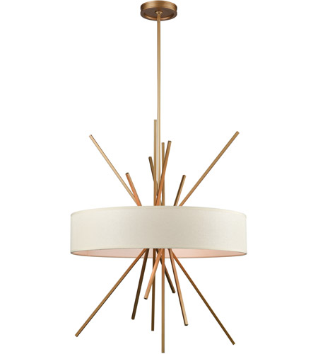 Elk 669735 xenia 5 light 25 inch matte gold chandelier ceiling light aloadofball Choice Image
