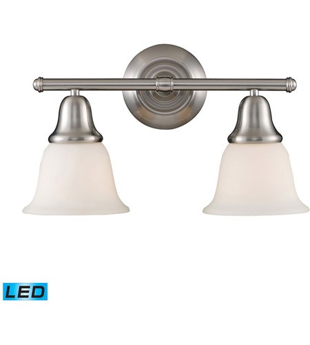 ELK Lighting Berwick 2 Light Bath Bar in Brushed Nickel 67021-2-LED photo