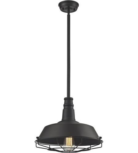 Elk 67046 1 Warehouse 1 Light 15 Inch Oil Rubbed Bronze Pendant Ceiling Light