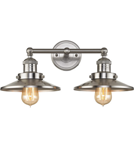Elk 671712 english pub 2 light 18 inch satin nickel vanity wall light aloadofball Image collections