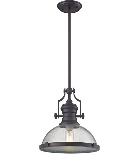 ELK 67733-1 Chadwick 1 Light 13 inch Oil Rubbed Bronze Pendant Ceiling Light  sc 1 st  ELK Lighting & ELK 67733-1 Chadwick 1 Light 13 inch Oil Rubbed Bronze Pendant ...