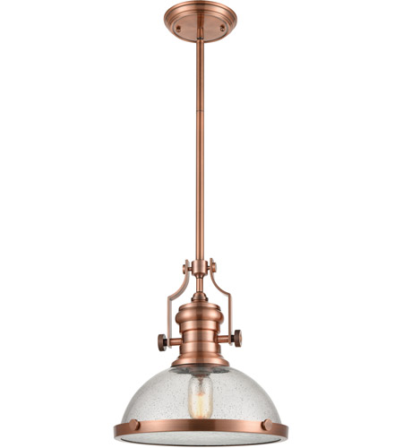 ELK 67743-1 Chadwick 1 Light 13 inch Copper Pendant Ceiling Light photo