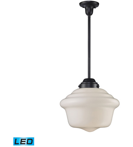 Schoolhouse Led 17 Inch Oiled Bronze Pendant Ceiling Light