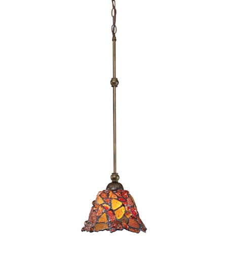 ELK Lighting Carnelian 1 Light Pendant in Tiffany Bronze 70004/1 photo