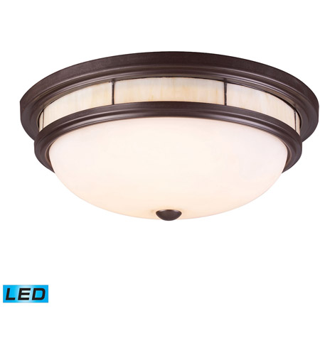 Elk 70014 3 Led Tiffany 16 Inch Oiled Bronze Flush Mount Ceiling Light