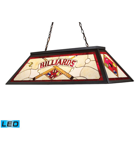 ELK 70053-4-LED Tiffany LED 44 inch Tiffany Bronze Billiard/Island Ceiling Light photo