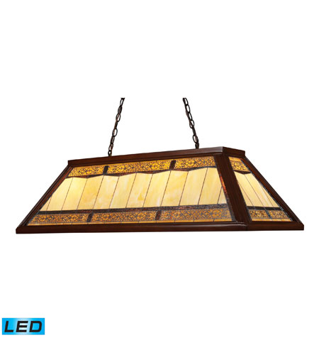 ELK 70112-4-LED Filigree LED 44 inch Dark Mahogany Wood Billiard/Island Ceiling Light photo