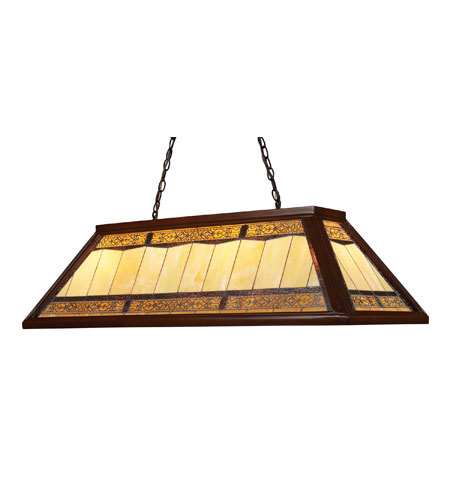 ELK Lighting Filigree 4 Light Billiard/Island in Dark Mahogany Wood 70112-4