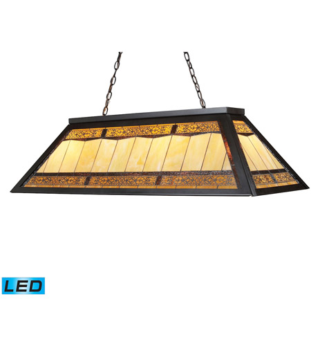 ELK 70113-4-LED Filigree LED 44 inch Tiffany Bronze Billiard Light Ceiling Light photo
