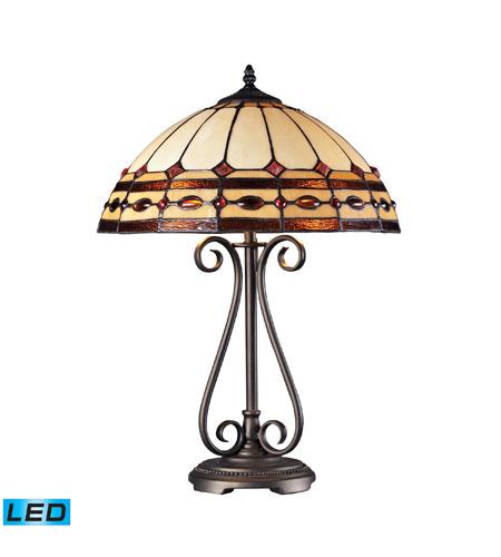 ELK Lighting Diamond Ring 2 Light Table Lamp in Burnished Copper 70165-2-LED photo