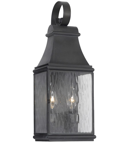 Elk 702 C Jefferson 2 Light 18 Inch Charcoal Outdoor Wall Sconce Photo