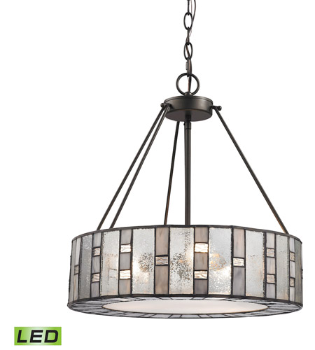 ELK 70212/3-LED Ethan LED 18 inch Tiffany Bronze Chandelier Ceiling Light photo