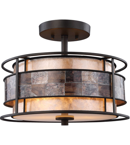 Elk Lighting Garriston: ELK 70261/2 Tremont 2 Light 14 Inch Tiffany Bronze Semi
